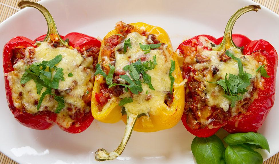 Bolognese stuffed peppers | fresh food, fresh air, fresh start
