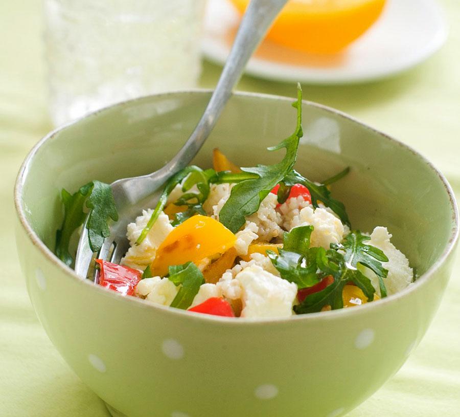 Colourful couscous salad