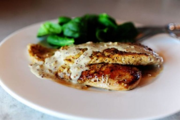 Sally's creamy mustard chicken