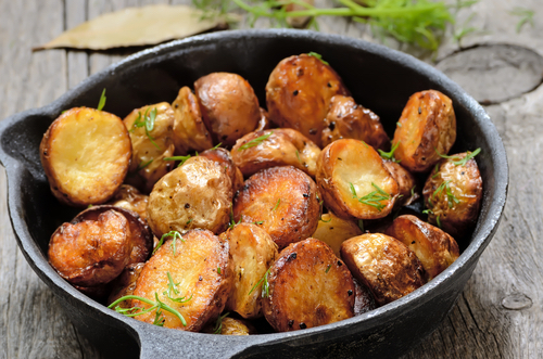 Herby roast potatoes