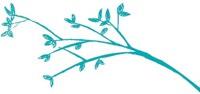 Leafy blue branch