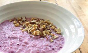 Berry cool porridge