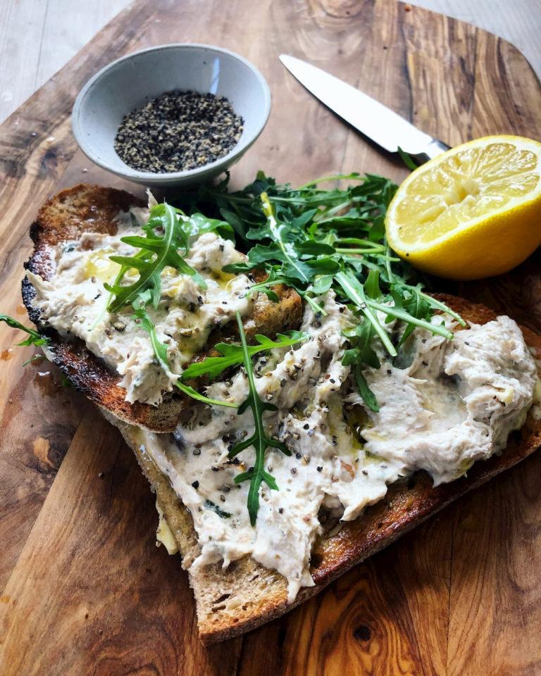 Smoked mackerel and horseradish pate