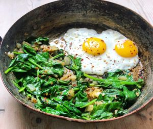 Spicy green eggs