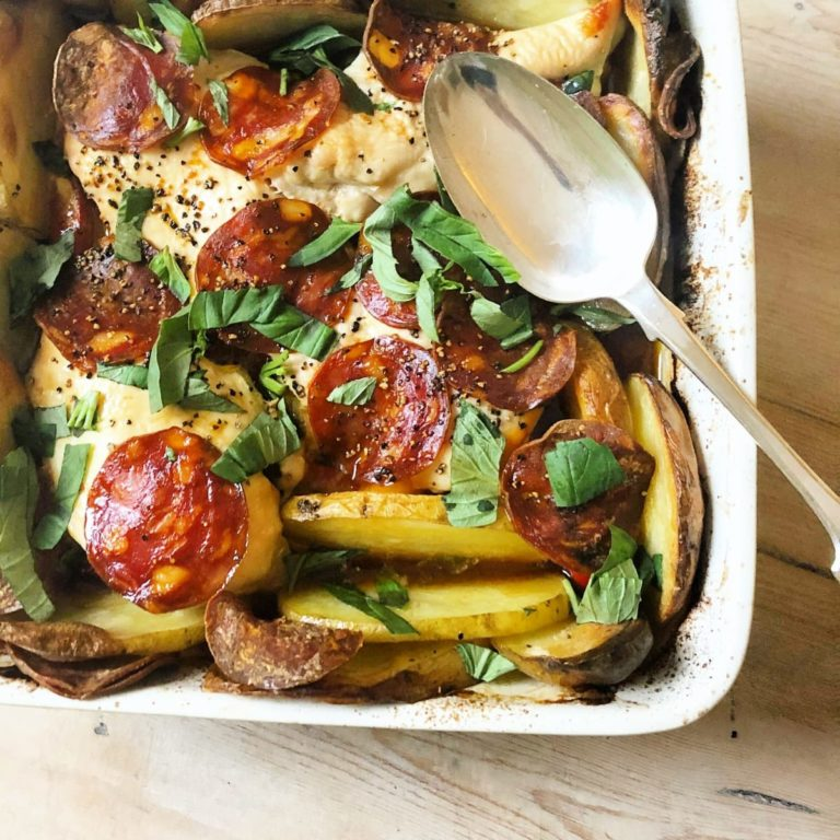 One pan chicken and chorizo