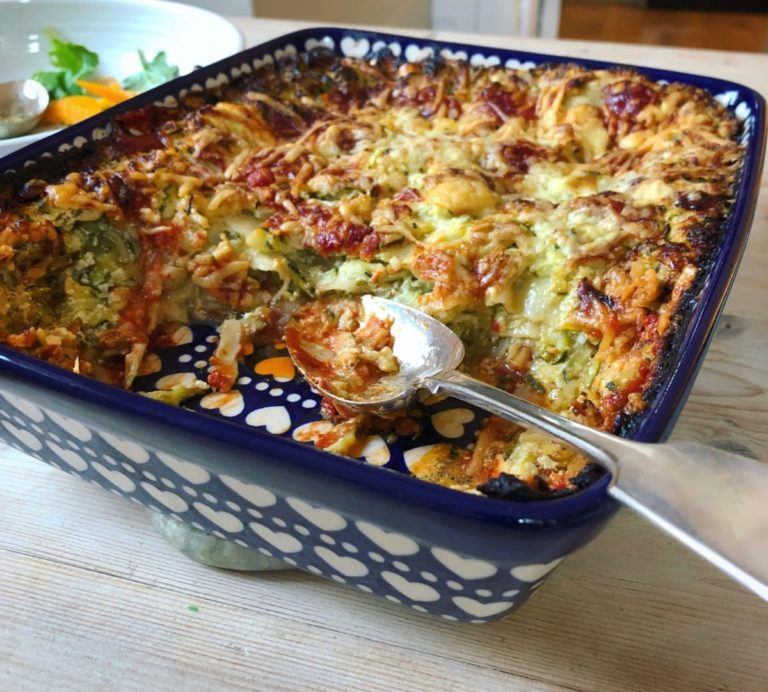 Courgette and ricotta lasagne