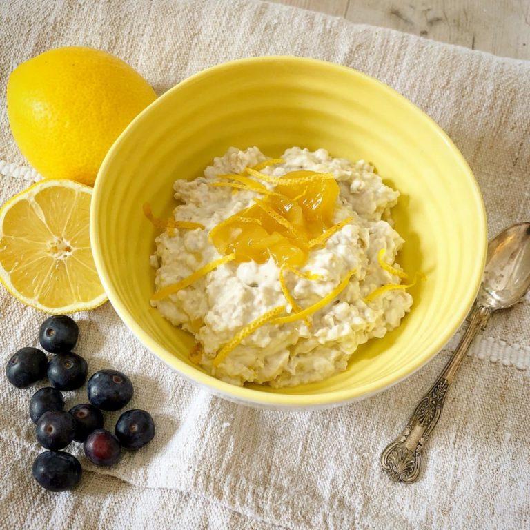 Lemon overnight oats