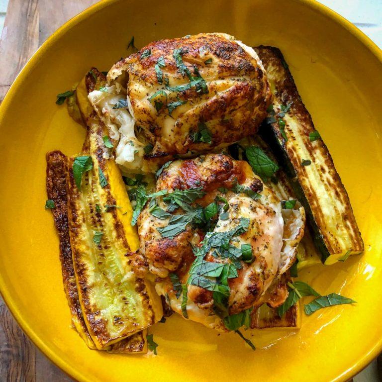 Chicken stuffed with mozzarella