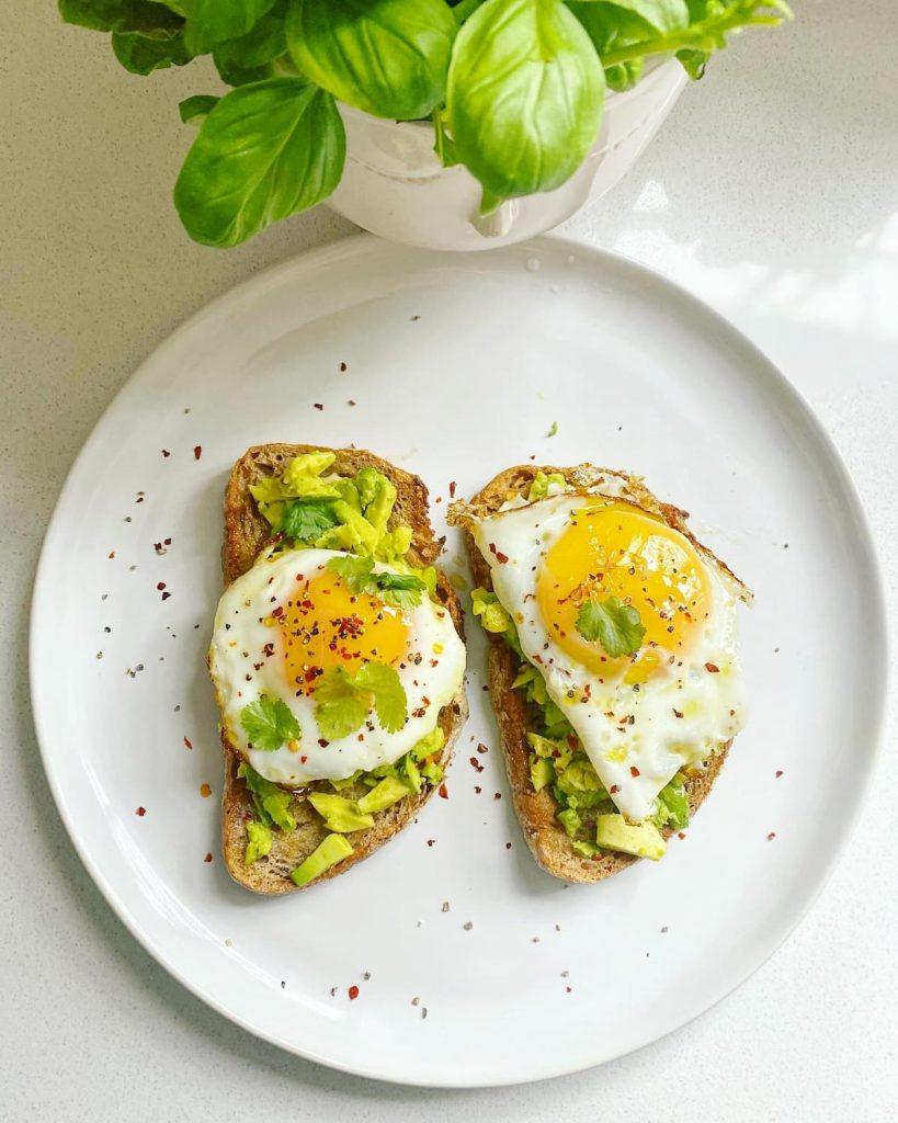 Avocado toast with eggs UK recipe